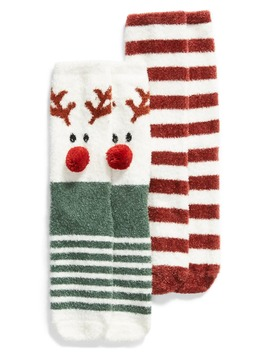 2 Pack Holiday Butter Crew Socks by Bp.
