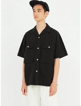 Structure Half Shirt Black by Partimento