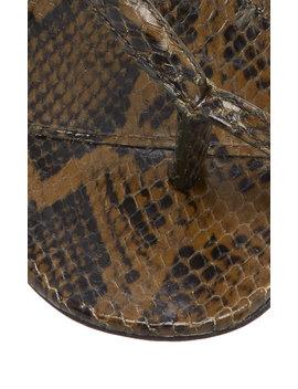 Python Embossed Leather Sandals by Bottega Veneta