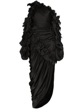 Asymmetrical Ruched Midi Dress by Zimmermann
