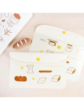 Yohand Loves Bread   Stationery Bag   Clear Pouch by Etsy