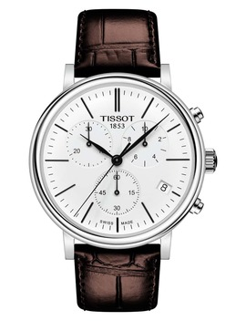 Carson Premium Chronograph Leather Strap Watch, 41mm by Tissot