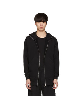 Black Gimp Sleeveless Hoodie by Rick Owens Drkshdw