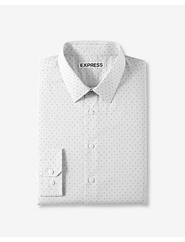 Classic Dot Stripe Dress Shirt by Express