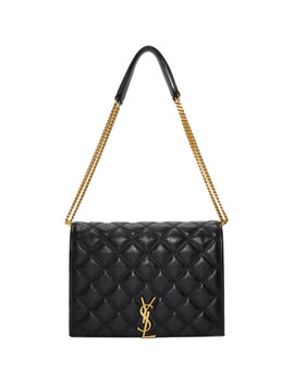 Black Small Becky Chain Bag by Saint Laurent