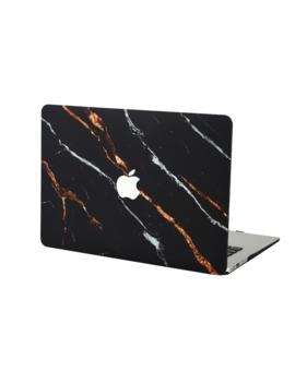 Tiger Black Marble Mac Book Case by Velvet Caviar