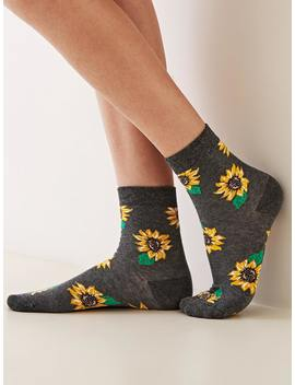 Sunflower Pattern Socks 1pair by Romwe