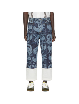 Indigo William De Morgan Fisherman Jeans by Loewe