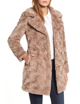 Textured Faux Fur Coat by Kenneth Cole New York