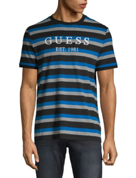 Originals Striped Cotton Blend Tee by Guess