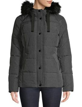 Etch Faux Fur Trim Parka by London Fog