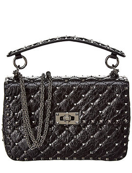 Valentino Rockstud Spike Medium Leather Crossbody by Valentino
