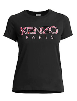 Slim Fit Logo Cotton Tee by Kenzo