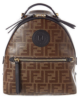 Fendi Ff Mini Leather Backpack by Fendi
