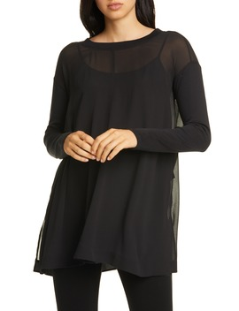 Silk Georgette Tunic Top by Eileen Fisher