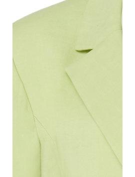 La Veste Tablier Belted Wool Blend Blazer by Jacquemus