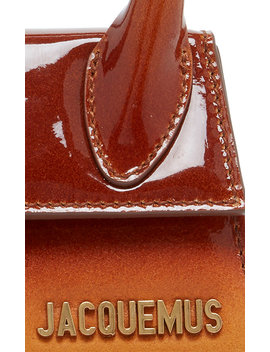 Le Chiquito Ombré Patent Leather And Suede Bag by Jacquemus