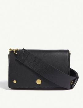 Huckleberry Leather Cross Body Bag by Burberry
