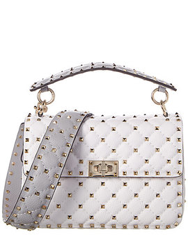 Valentino Rockstud Spike Leather Shoulder Bag  by Valentino