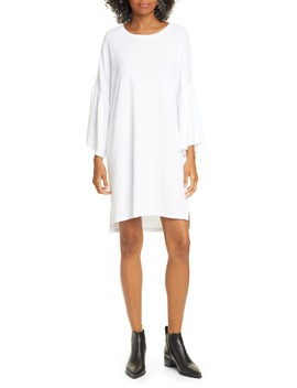 Ruffle Sleeve High/Low Cotton T Shirt Dress by Atm Anthony Thomas Melillo