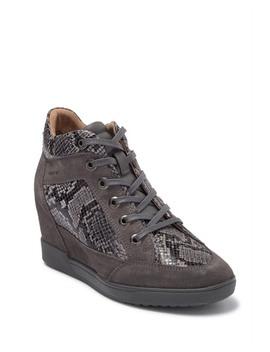 Carum Snakeskin Panel Wedge Sneaker by Geox