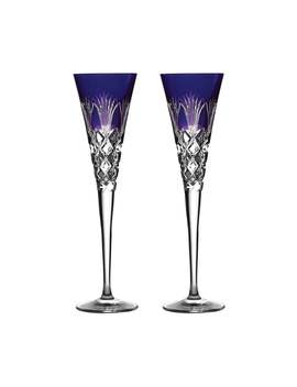 Times Square 2020 Gift Of Goodwill Ultra Violet Flute Glasses, Set Of 2 by Waterford