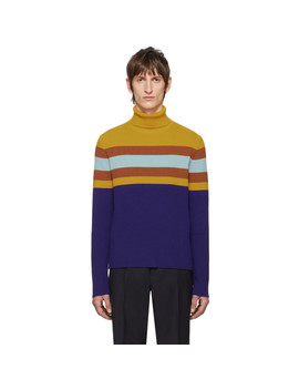 Multicolor Wool Striped Turtleneck by Gucci