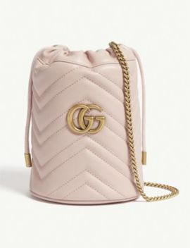 Marmont Mini Leather Bucket Bag by Gucci