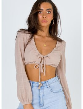Honey Love Tie Front Top by Princess Polly