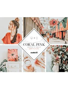Mobile Lightroom Preset, Instagram Preset, Mobile &Amp; Desktop Preset, Best Lightroom Preset, Coral Pink Preset, Warm Preset by Etsy