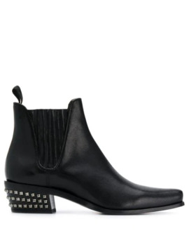 Studded Heel Ankle Boots by Miu Miu