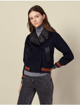 Cropped Wool Jacket by Sandro Paris