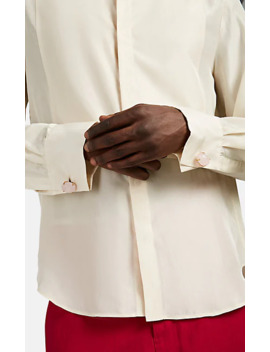 Silk Satin Wing Collar Shirt by Wales Bonner