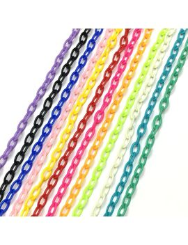 10pcs/Lot 8*13 Diy Jewelry Accessories Colorful Chain Necklace Bracelet Plastic Warning Chain Chain Isolated Colors by Ali Express.Com
