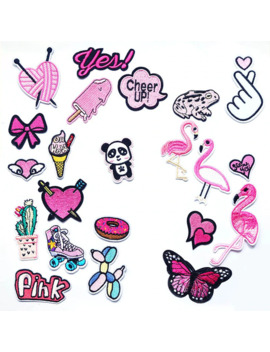 Pink Girl Lady Iron On Patches Sewing Embroidered Applique For Jacket Clothes Stickers Badge Diy Apparel Accessories by Ali Express.Com