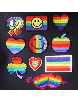 Pulaqi Gay Flag Patch Diy Embroidered Iron On Patches For Clothing Rainbow Patches On Clothes Bender Stripe Badges Applique G by Ali Express.Com