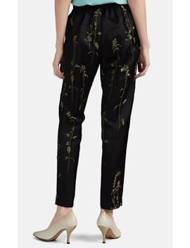 Floral Jacquard Slim Pants by Dries Van Noten
