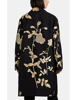 Floral Embroidered Wool Blend Coat by Dries Van Noten