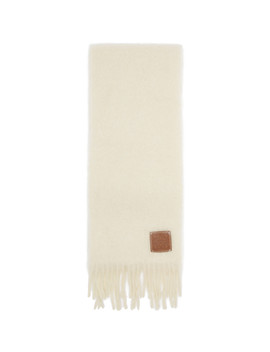 Off White William De Morgan Mohair Scarf by Loewe