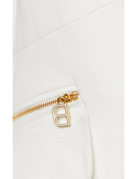 Double Pocket Zip Detailed Cady Blazer by Brandon Maxwell