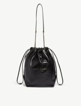 Teddy Leather Shoulder Bag by Saint Laurent