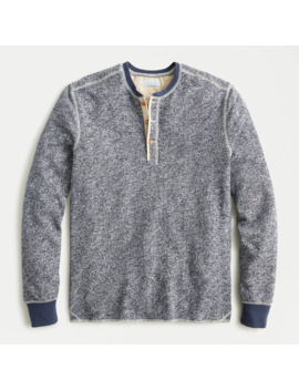 Wallace & Barnes Marled French Terry Henley by J.Crew