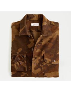 Wallace & Barnes Corduroy Camp Collar Shirt In Camo by J.Crew
