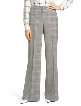 Dalton Stretch Wool Wide Leg Pants by Lafayette 148 New York