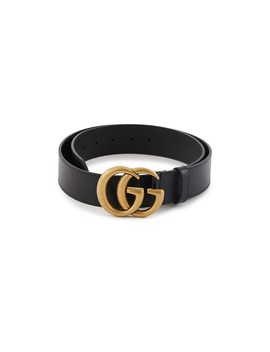 Gg Leather Belt by Gucci