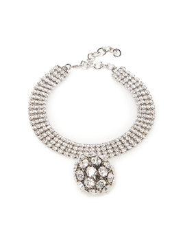 Crystal Choker With Sphere Pendant by Alessandra Rich