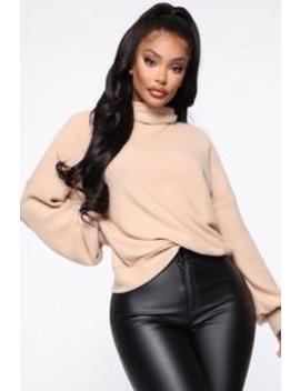 Baby It's Cold Outside Turtleneck Top   Taupe by Fashion Nova