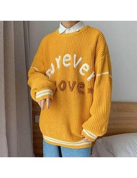Puani   Lettering Sweater by Puani