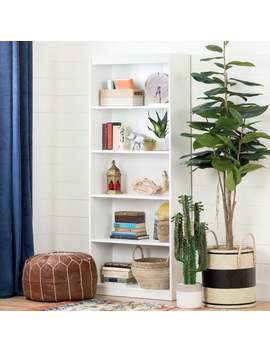 South Shore Pure White Axess 5 Shelf Bookcase by Generic
