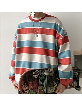 Puani   Multicolor Wide Stripe Round Neck Pullover by Puani